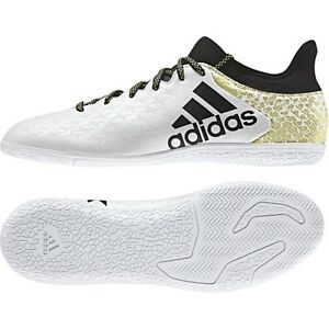 c02d575ff02e Details about adidas X 16.3 TRX IN CT Court Indoor 2016 Soccer Shoes Brand  New White   Black