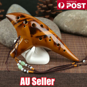 12-Hole-Legend-Zelda-Ocarina-of-Time-Alto-C-Smoldering-Ceramic-Flute-Ocarina-ON
