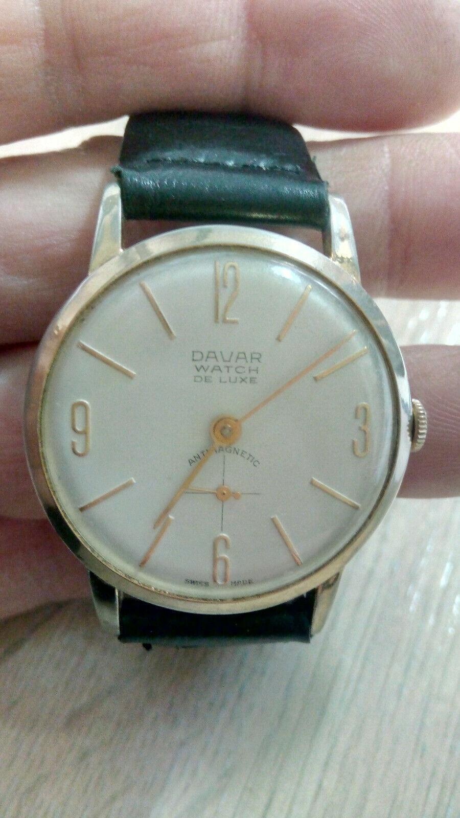 Davar De Luxe – vintage men's wristwatch – 1960s.… - image 3
