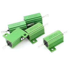 5 Pcs Green Heatsink Aluminum Housed 10Watt 4 Ohm Wirewound Resistors