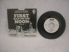 FIRST MAN ON THE MOON - APOLLO 11 FLIGHT / JULY 1969 / 7 INCH 45 RPM RECORD