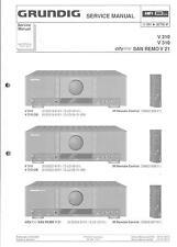 Grundig Original Service Manual für V 210 / 310 San Remo V 21
