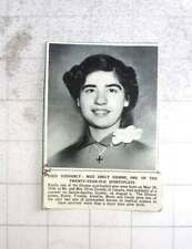 1954 Miss Emily Dionne, Quintuplets Dies Suddenly Québec