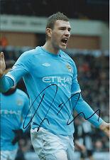 Edin DZEKO SIGNED COA Autograph 12x8 Photo AFTAL In Person Manchester City