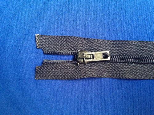 """ZIP open end Navy 76 cm 30 /""""peso 5 dispositivo di scorrimento in metallo e denti Pesante Heavy Duty"""