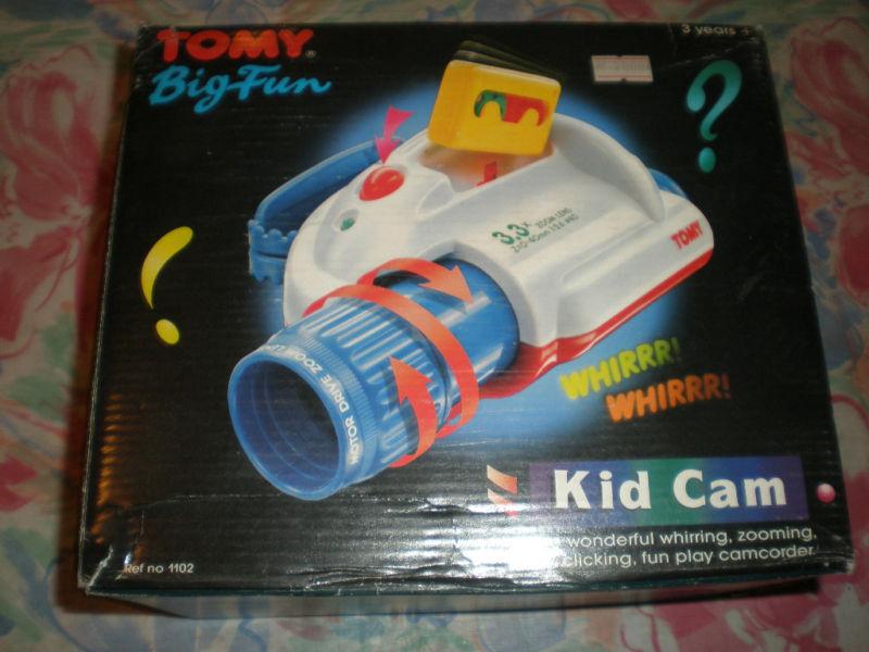80'S VINTAGE TOMY BIG FUN KID CAM TOY MINT IN BOX MIB