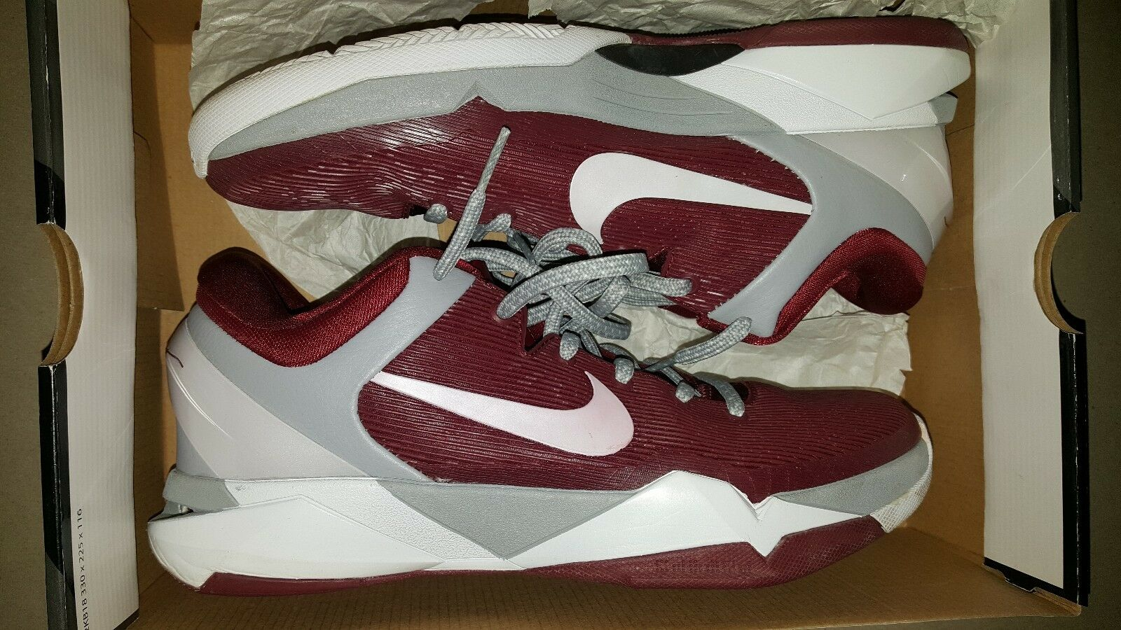 NIKE ZOOM KOBE VII 7 SYSTEM LOWER MERION ACES 488371-600 SIZE 9.5  USED