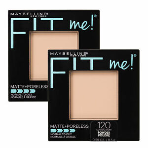 NEW Maybelline Fit Me Matte & Poreless Lasting Pressed Powder Classic Ivory x 2