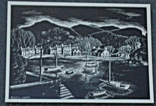 MERYL WATTS Art Postcards Black /& White Series Lot 2