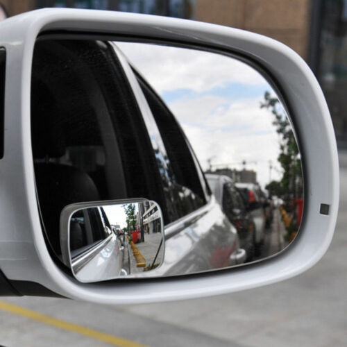 2 Adjustable Blind Spot Mirror Wide Angle Rear View Car Side Mirror 3M Adhesive