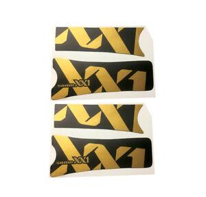 Pedivella-SRAM-XX1-Eagle-oro-nero-opaco-adesivi-adhesives-stickers-decal