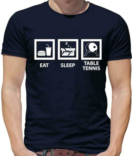 Eat Sleep Tennis De Table T-shirt homme-PING PONG-TT-Ball