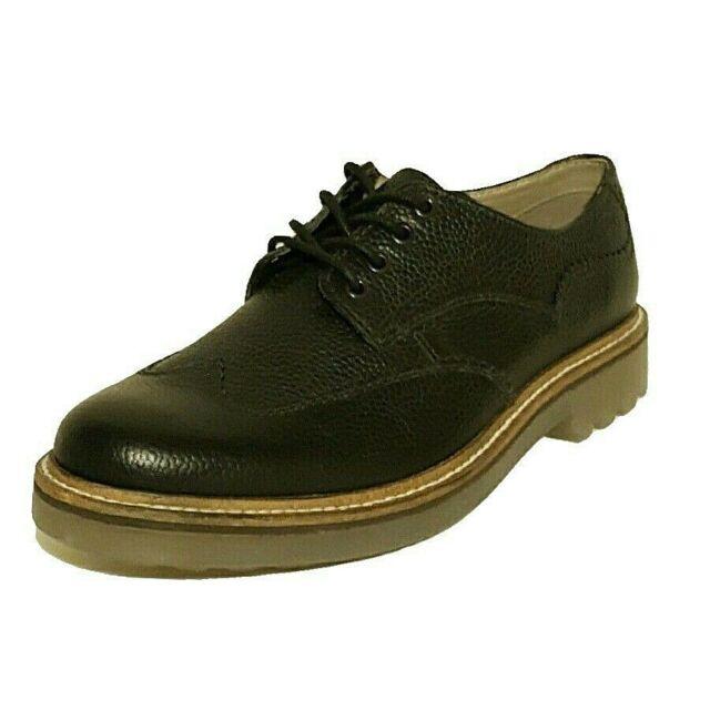 Clarks monmart Limit Schwarz Leder Oxford Schuhe Lace Up Schuhe Herren UK Größe 6.5 G