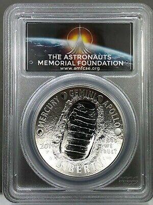 2019-P Apollo 11 50th Anniv Silver Dollar PCGS PR69DCAM First Strike AMF LABEL