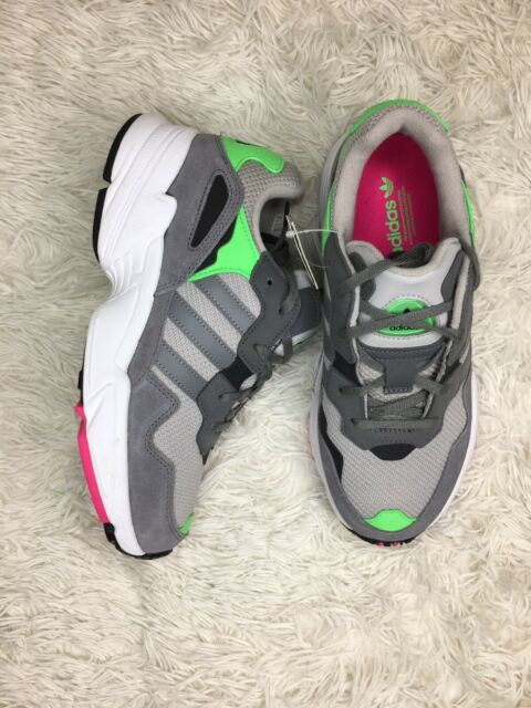 New Adidas Yung-96 J Sneakers Suede Grey Green Size 6 Youth 6Y DB2802