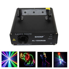 Shinp AL1200 1200mw Red Green Blue Laser stage light lighting party Animation DJ