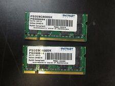8GB (2 x 4GB) Patriot Memory  PC2-6400 DDR2 800MHz Laptop Memory SODIMM