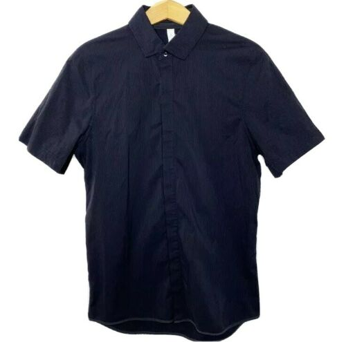 Lululemon Polo Shirt S Black Short Sleeve Button U