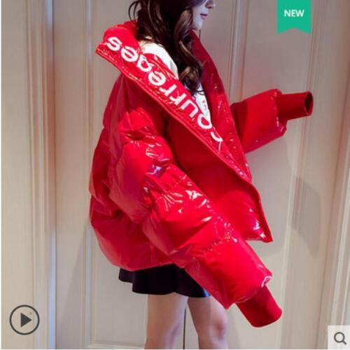 Jacket Zip Winter Frakke Cotton Stand Hot Loose Læder Skinny Collar Fuld Kvinders a6vwnOqx