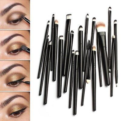 20 Pcs Makeup Set Powder Foundation Eyeshadow Eyeliner Lip Cosmetic Brushes F5##