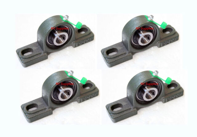 """Solid Base High Quality 5//8/"""" UCP202-10 self-align Pillow block bearings Qty.4"""