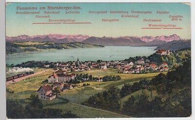 (101358) Ak Starnberg, Panorama Am Starnberger See, Vor 1945 Elegantes Und Robustes Paket