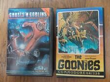 THE GOONIES+GHOSTS N GOBLINS-2 RARE ORIGINAL COMMODORE 64/128 GAMES COMPLETE