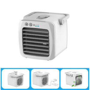 Details about Mini Air Cooler Fan Air-Conditioner Portable USB Charging  Home Office Desk Small