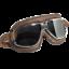 Occhiali-Da-Casco-Moto-Scooter-Vespa-CGM-705V-Oldstyle-Silver-Lente-Specchiata miniatura 1