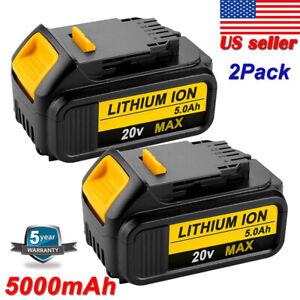 2X-For-Dewalt-20V-Max-XR-DCB205-2-5-0Ah-Li-Ion-Battery-DCB200-2-DCB206-2-DCB204