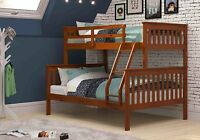Donco Twin over Full Mission Bunk Bed in Light Espresso -Kids Furniture