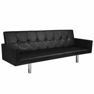 vidaXL-Sofa-Kunstleder-Armlehne-Sofabett-Couch-Schlafsofa-Bettsofa-Schlafcouch