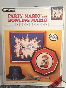 nintendo mario party and mario bowling cross stitch patterns 1990