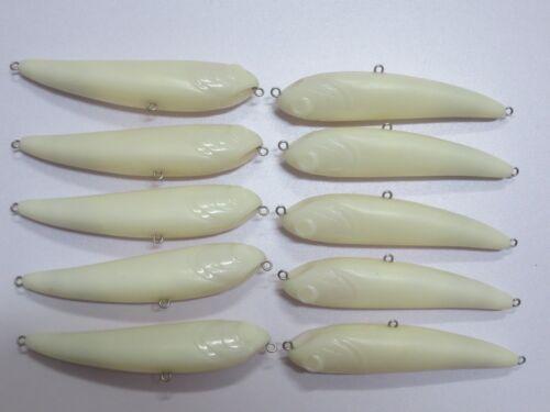 10pcs Unpainted Crank bait Fishing Lure Body 4 1//3 Inch 1//2 OZ Blank lures 8135