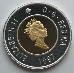 CANADA-TOONIE-1997-PROOF-STERLING-SILVER-WITH-24KT-GOLD-PLATED