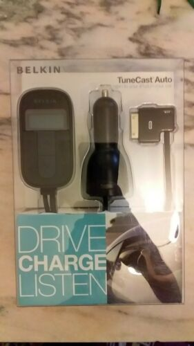 BELKIN TuneCast Auto FM Transmitter Audio for Apple iPod Touch Nano Classic Mini
