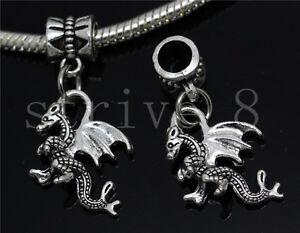 Lot 6//30//100pcs Antique Silver Circular Bulk Lots Dangle European Charm Bracelet