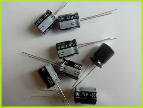 Condensateurs chimiques//electrolytiques 47uF 100V  NICHICON