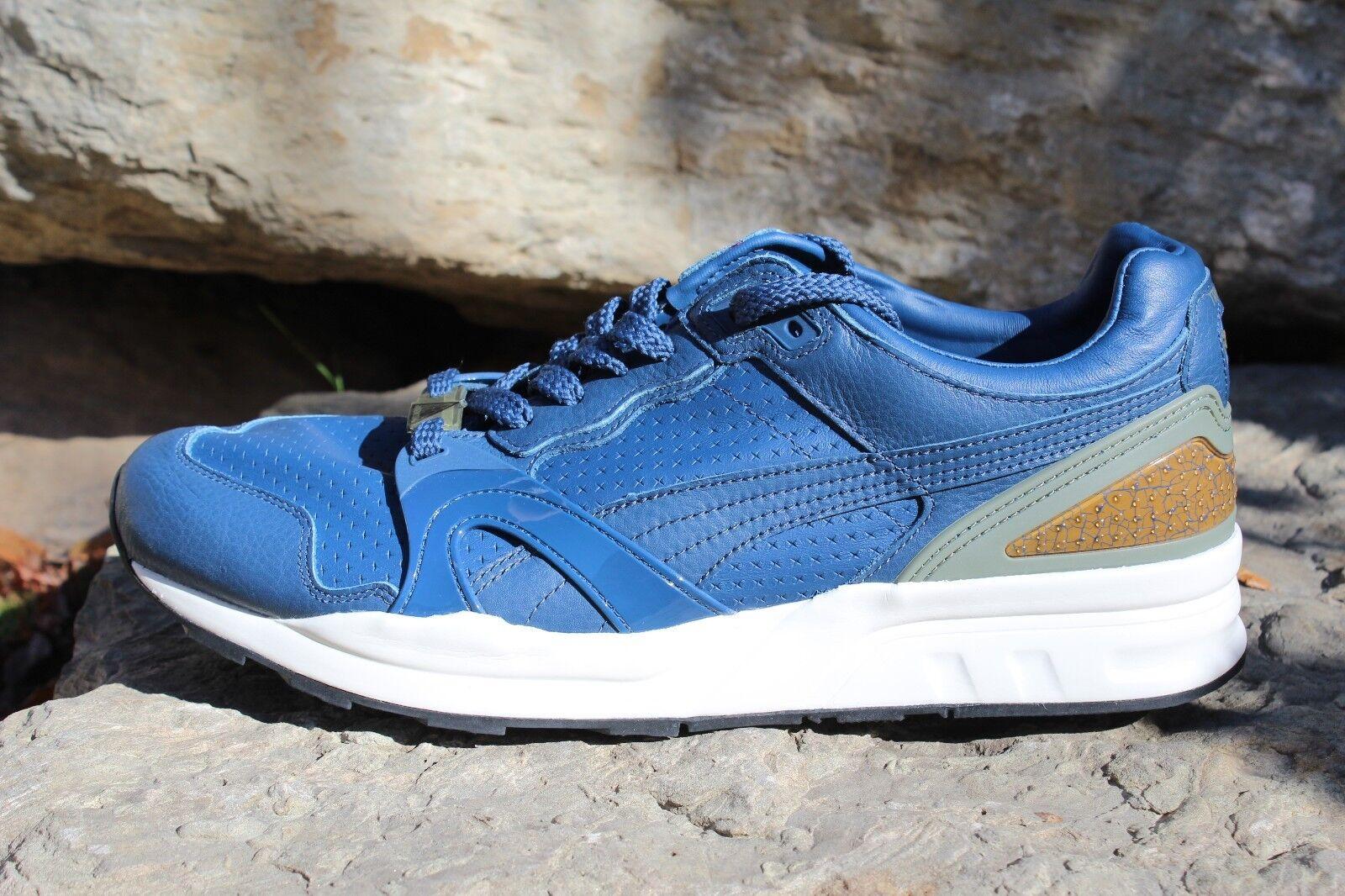 11 Mens Original Puma Trinomic XT2 Crackle Cross Leather Upper Low Top shoes 12