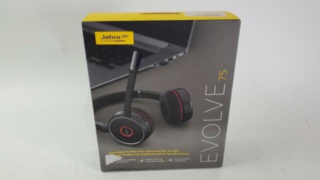Jabra Evolve 75 Over The Ear Stereo Bluetooth Headset Black For Sale Online Ebay