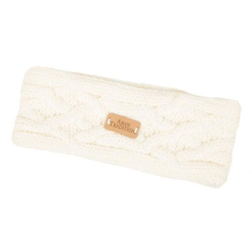 Aran Traditions Womans Winter//Autumn Cable Style Cream White Headband ONE SIZE