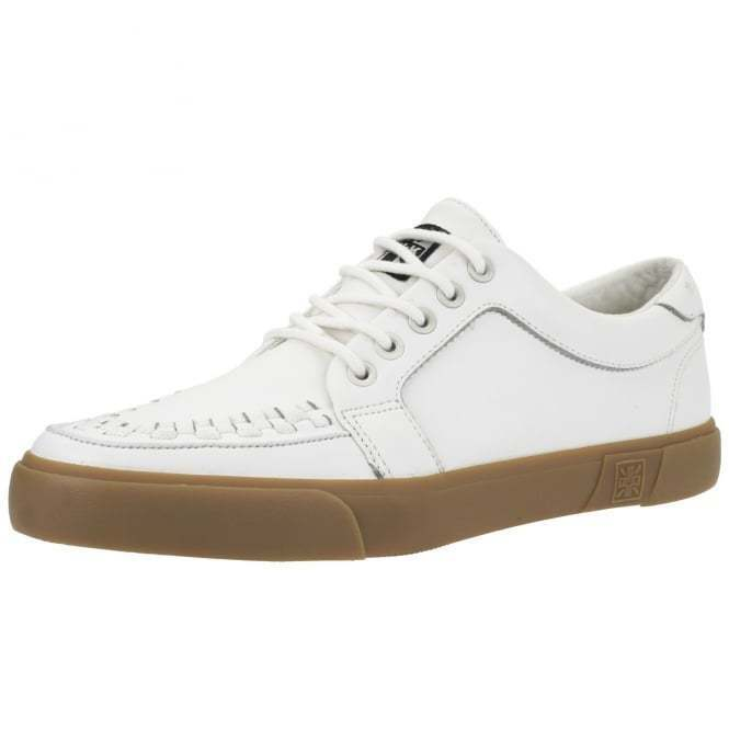T.U.K. A9185 New Men T.U.K. Shoes White Leather Vlk Gum Sole Sneaker