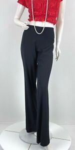 Jean Paul Gaultier New 8 US 44 IT M Black Wool Dress Pants Wide Leg Runway Auth