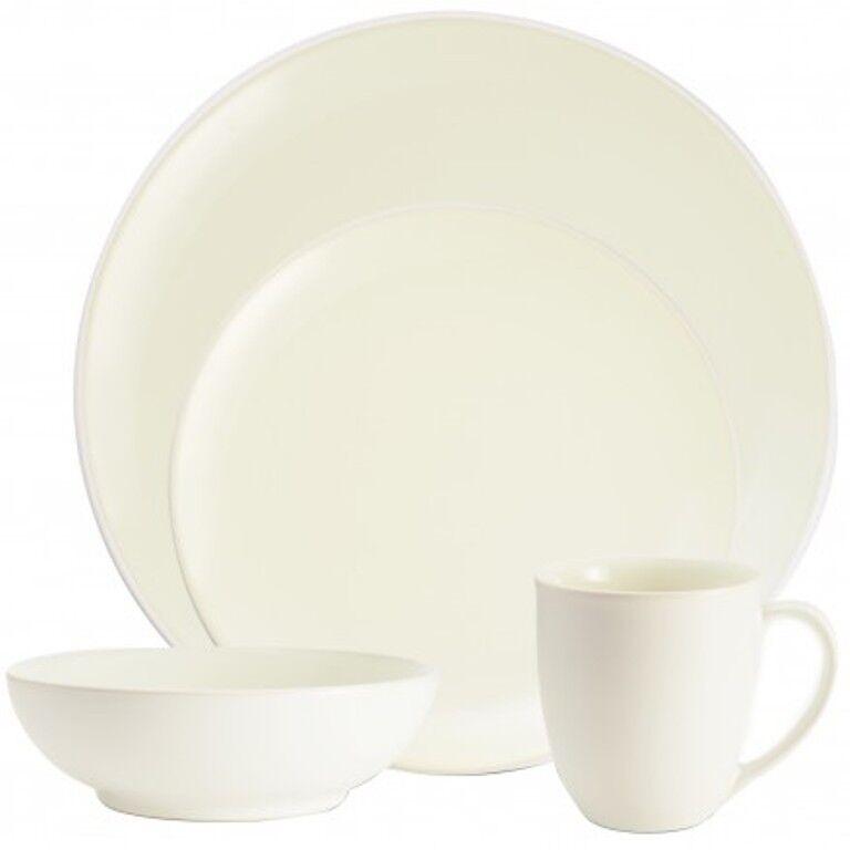 Noritake Couleurwave blanc Coupé 32Pc Dinnerware Set, service pour 8