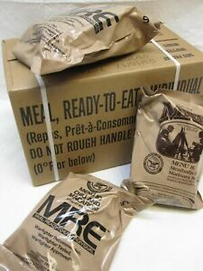 FRESH NEW MEALS READY TO EAT MRE CASE A MENU 1-12 MREs FOOD RATIONS INSP 2022