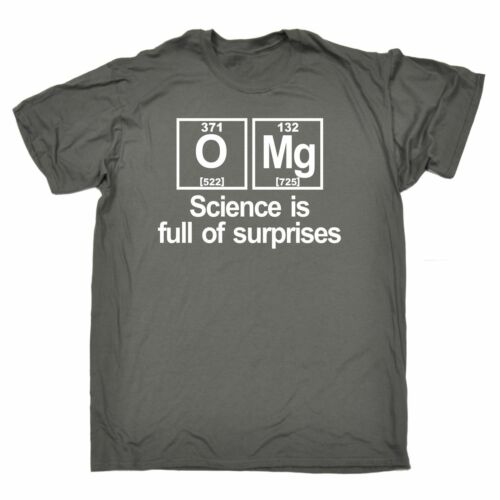 OMG Science Is Full Of Surprises MENS T-SHIRT birthday gift nerd geek college