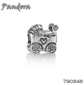 4d9da137006d4 Image is loading PANDORA-Charm-Sterling-Silver-ALE-S925-BABY-CARRIAGE-