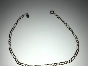 Stunning Vintage Hallmarked 9k 9ct 375 Yellow Gold Figaro Chain Link ... 4f7a2f2f8a81