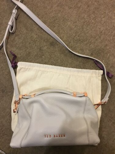 New Ted Baker Grey Albett Small Leather Tote Bag