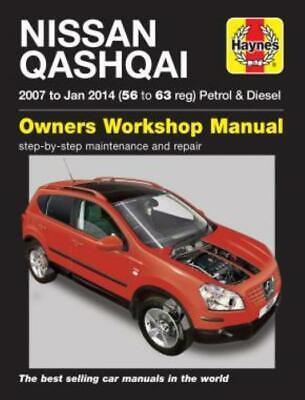 Nissan Qashqai Haynes Manual 2007-13 1.6 2.0 Petrol 1.5 2.0 Diesel